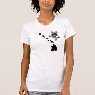 Corrente das ilhas de Havaí - tartaruga de Havaí T-shirts