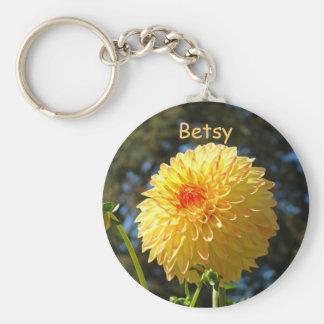 Correntes chaves da flor da dália seu nome colorid chaveiros