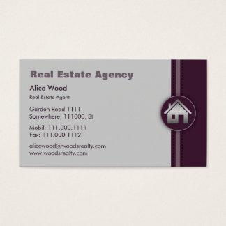 Corretor de imóveis dos bens imobiliários   cartão de visitas