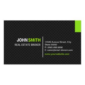 Corretor imobiliário - grade moderna da sarja cartão de visita