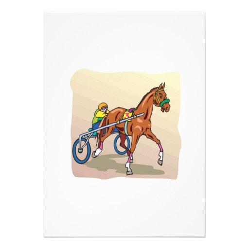 Corrida de cavalos 3 convites