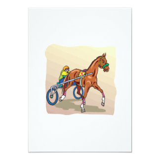 Corrida de cavalos 3 convite 12.7 x 17.78cm
