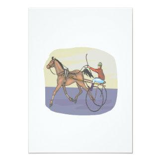 Corrida de cavalos 4 convite 12.7 x 17.78cm