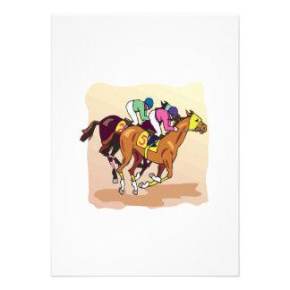 Corrida de cavalos 6 convites personalizados