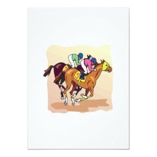 Corrida de cavalos 6 convite 12.7 x 17.78cm