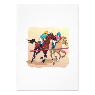 Corrida de cavalos 7 convite personalizados