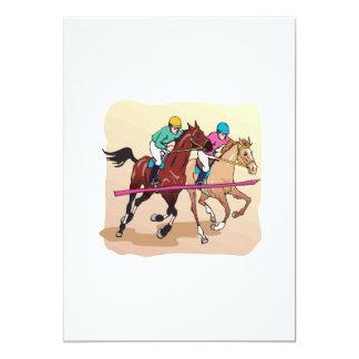 Corrida de cavalos 7 convite 12.7 x 17.78cm