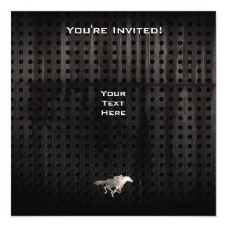Corrida de cavalos áspera convite quadrado 13.35 x 13.35cm