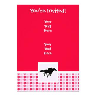 Corrida de cavalos bonito convite 12.7 x 17.78cm