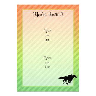Corrida de cavalos convite personalizados