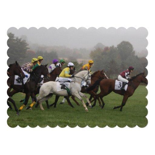 Corrida de cavalos convite personalizado