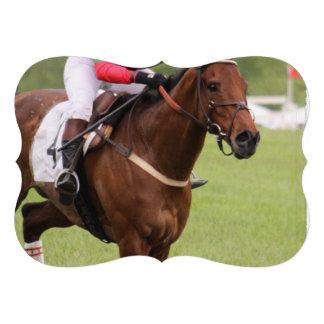 Corrida de cavalos convite