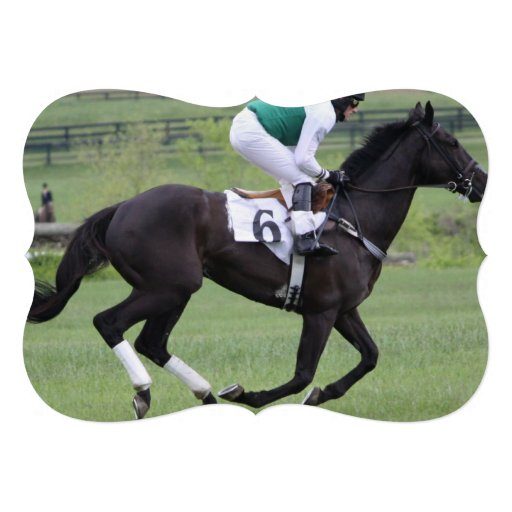 Corrida de cavalos convites personalizados
