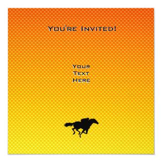 Corrida de cavalos convite quadrado 13.35 x 13.35cm