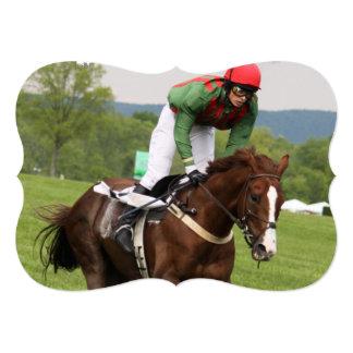 Corrida de cavalos convite 12.7 x 17.78cm