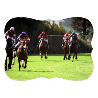 Corrida de cavalos convites