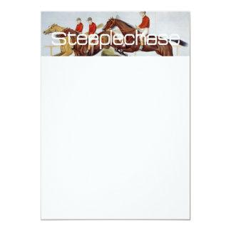 Corrida de obstáculos SUPERIOR Convite 12.7 X 17.78cm