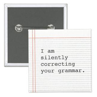Corrigindo o botão da gramática, papel feito sob e bóton quadrado 5.08cm