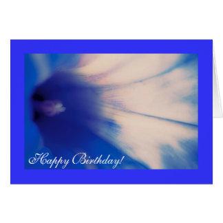 Corriola azul, cartão do feliz aniversario