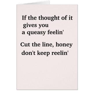 Corte a linha cartão