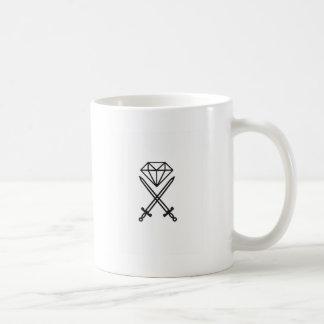 Corte do diamante caneca de café