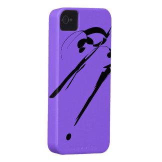Corte do roxo 7! Case mate corajosa de Blackberry Capinhas iPhone 4