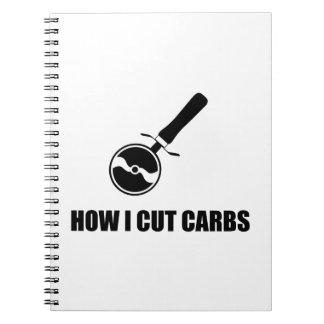 Corte o cortador da pizza dos carburadores caderno