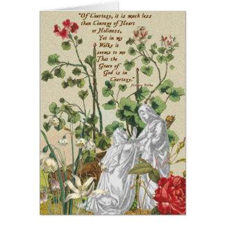 Cortesia de Hilaire Belloc do cartão vazio da