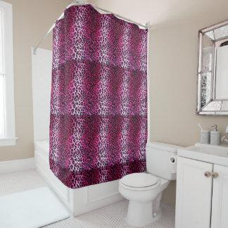 Cortina de chá cor-de-rosa do impressão do cortina para chuveiro