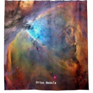 Cortina de chá da galáxia do espaço da nebulosa de cortinas para chuveiro