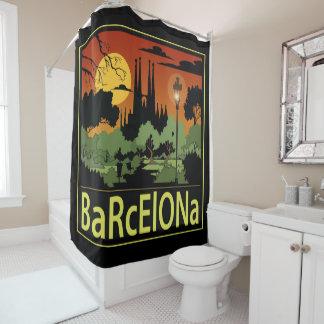 Cortina de chá de Barcelona (Sagrada Familia) Cortina Para Chuveiro