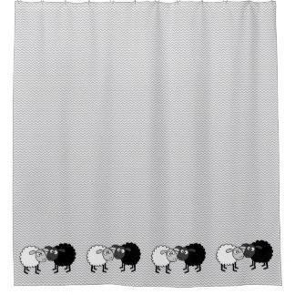 Cortina de chá dos carneiros brancos das ovelhas cortina para box