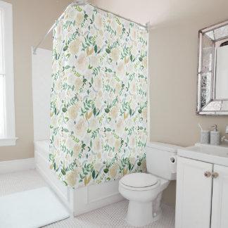 Cortina de chá floral romântica cortinas para chuveiro