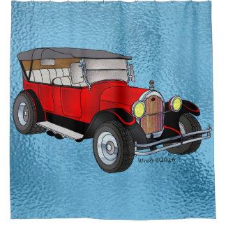 Cortina Para Box 1923 velhos que visitam - vermelho