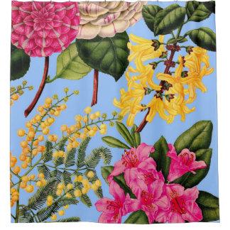Cortina Para Box a camélia, o forsythia, o rododendro e a acácia