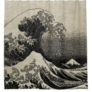 Cortina Para Box A grande onda fora de Kanagawa (神奈川沖浪裏)