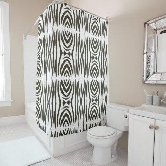 Cortina Para Box A zebra branca preta abstrata listra cortinas de