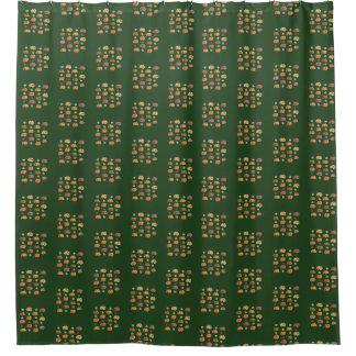 Cortina Para Box Abóboras com a cortina de chá das folhas