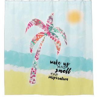Cortina Para Box acorde e cheire a inspiração, a praia e a palma
