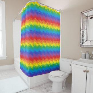 Cortina Para Box Agitando o arco-íris