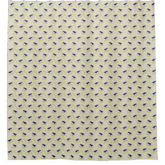 Cortina Para Box Anos 50 astucioso - cortina de chá azul de dois
