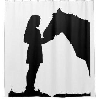 Cortina Para Box Arte feita sob encomenda do animal do cavalo & da