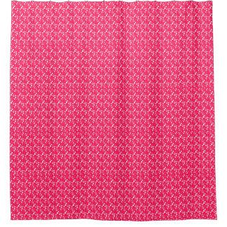 Cortina Para Box banheiro branco cor-de-rosa