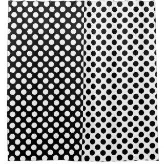 Cortina Para Box Bolinhas preto e branco dos opostos do espelho