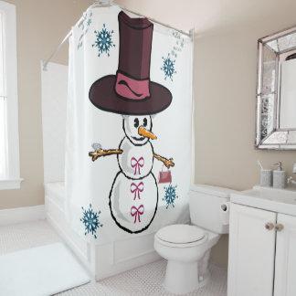 Cortina Para Box Boneco de neve da cortina de chá