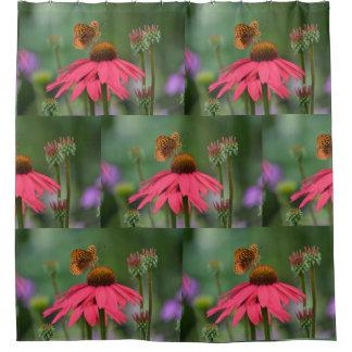 Cortina Para Box Borboleta na flor do cone
