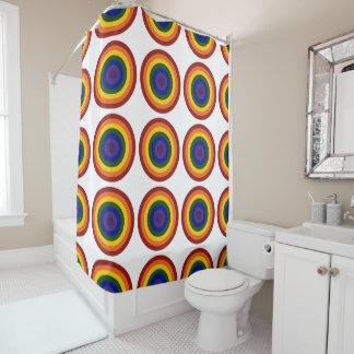 Cortina Para Box Bullseyes geométricos legal do arco-íris