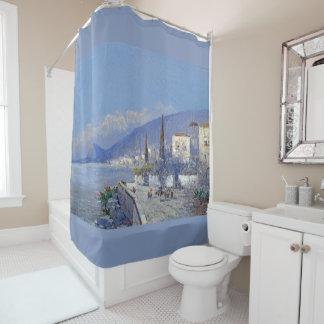 Cortina Para Box Capri floresce a cortina de chá do oceano das