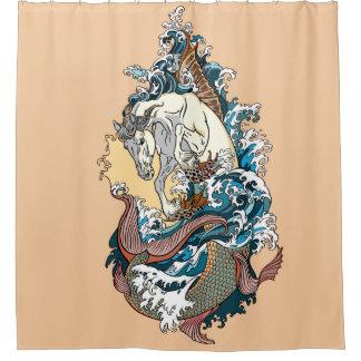 Cortina Para Box cavalo de mar mitológico