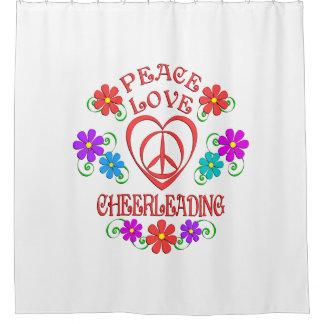 Cortina Para Box Cheerleading do amor da paz